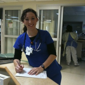 Jillian at Work - Jackson Memorial Hospital Neurosurgical ICU
